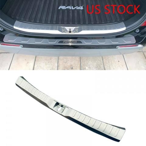 Stainless Inner Rear Bumper Protector Foot Plate Cover For Toyota RAV4 2019 2020 2021