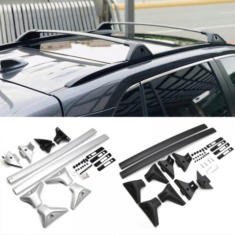 Free Shipping Cross Bar Roof Baggage Luggage Rack Rail Side Bar Set For Toyota RAV4 2019 2020