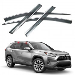 Free Shipping Window Visor Vent Shades Sun Rain Guard 4pcs For Toyota RAV4 2019 2020