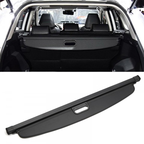 Black Rear Trunk Cargo Cover Security Shield 1Set For Toyota Rav4 2019