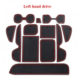 Free Shipping Red Inner Door Cup Holder Non-Slip Pad Mat For Toyota RAV4 2019 2020 2021