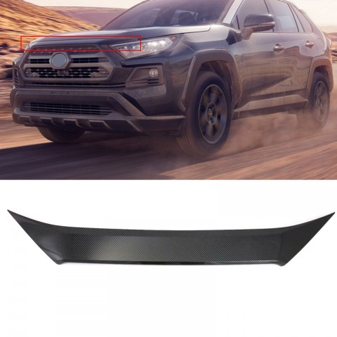 ABS Chrome Front Hood Cover Trim 1pcs For Toyota RAV4 Adventure 2019 2020 2021