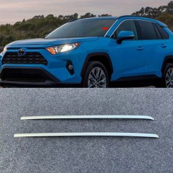 Free Shipping Steel Front Windshield Side Stripes Cover Trim 2pcs For TOYOTA RAV4 2019 2020