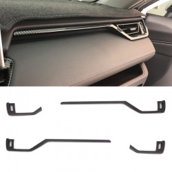 Free Shipping Left Hand Drive Carbon Style Front Side Air Condition Vent Cover Trim For Toyota RAV4 2019 2020