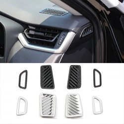 Free Shipping Carbon Style Front Upper Air Condition Vent Cover Trim For Toyota RAV4 2019 2020