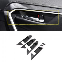 Free Shipping Carbon Style RHD Interior Door Handle Bowl Cover Trim For Toyota RAV4 2019 2020 2021