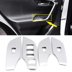 Free Shipping LHD Matte Door Armrest Lift Frame Cover Trim For Toyota RAV4 2019 2020