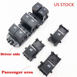 Free Shipping Lighted LED Power Single Window Switch Set for Toyota RAV4 RAV 4 2019 2020 LHD