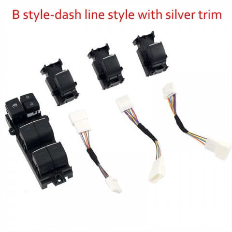 Free Shipping Lighted LED Power Single Window Switch for Toyota Corolla 2019-2021 LHD