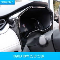 Free Shipping ABS Interior Dashboard Meter Frame Cover Trim 1pcs For Toyota RAV4 2019 2020 2021
