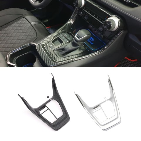 Free Shipping Carbon Style LHD Interior Center Console Gear Shift Cover Trim For Toyota RAV4 2019 2020