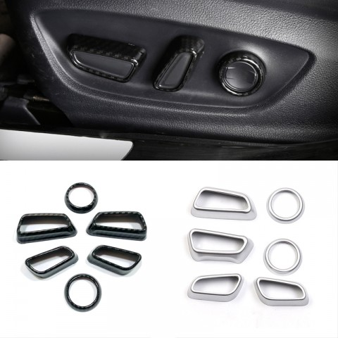 Free Shipping Interior Car Seat Adjustment Button Cover Trim For Toyota RAV4 2019 2020