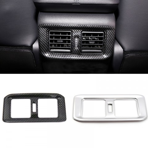 Free Shipping Carbon Style Rear Armrest Box Air Condition Vent Cover For Toyota RAV4 2019 2020