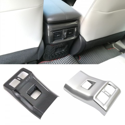 Free Shipping Carbon Style Outer Side Rear Armrest Box Air Vent Outlet Cover For Toyota RAV4 2019 2020