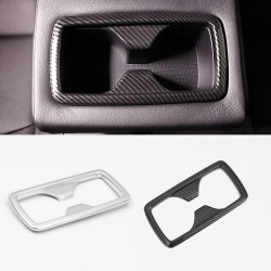 Free Shipping Carbon Style Inner Rear Water Cup Holder Decoration Cover Trim For Toyota RAV4 2019 2020 2021