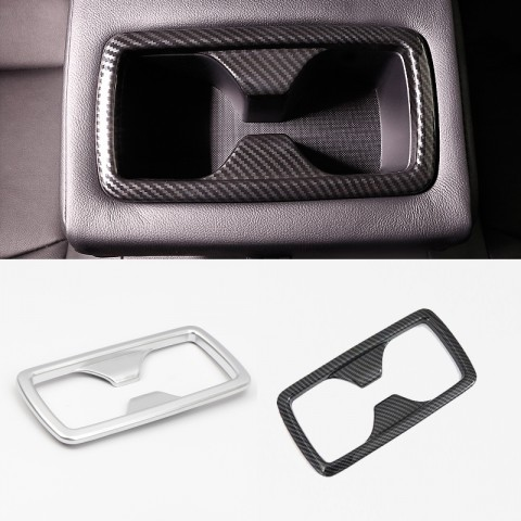 Free Shipping Carbon Style Inner Rear Water Cup Holder Decoration Cover Trim For Toyota RAV4 2019 2020