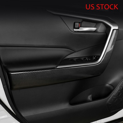 Free Shipping ABS Inner Door Handle Cover Armrest Moulding Trim For Toyota RAV4 2019 2020 2021