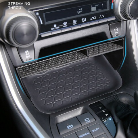 Free Shipping Black Center Console Storage Box Organizer Holder 1pcs For Toyota RAV4 2019-2021 LHD
