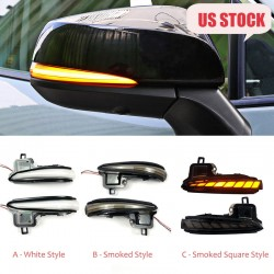 LED Side Mirror Sequential Dynamic Turn Signal Light For TOYOTA RAV4 2019 2020
