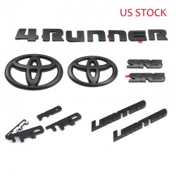 Free Shipping ABS Black Style Emblem Overlay Kit For Toyota 4Runner 2010-2019