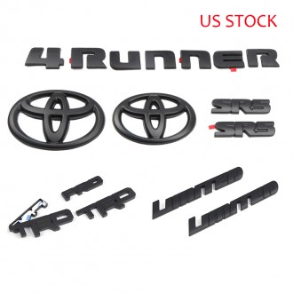 Free Shipping ABS Black Style Emblem Overlay Kit For Toyota 4Runner 2014-2019
