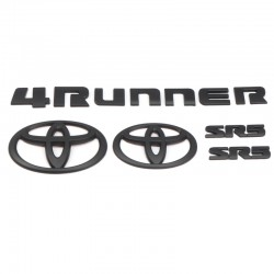 Not Overlay!!!Free Shipping ABS Black Style Emblem Replacement Kit For Toyota 4Runner 2010-2019