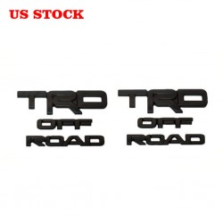 Free Shipping ABS Matte Black TRD OFF ROAD Emblem Overlay For Toyota 4Runner 2014-2019