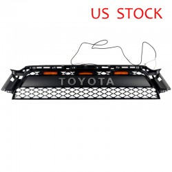 Only ship to USA!!!Free Shipping 2Piece Front Bumper Grille Replacement with LED Lights For Toyota 4Runner 2010-2013