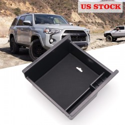 Free Shipping For Toyota 4Runner 2010-2021 Interior Black Storage Box Organizer Case