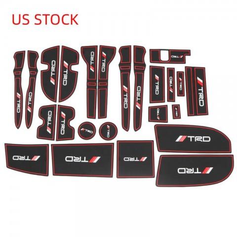 Free Shipping Inner Door Cup Holder Non-Slip Pad Mat 24Pcs For Toyota 4Runner 2010-2019