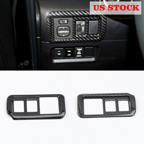 Free shipping LHD Head Light Switch Button Cover Trim For Toyota 4Runner 2010-2019