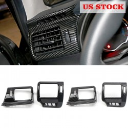 Free shipping LHD Front Side Air Vent Outlet Trim 2pcs For Toyota 4Runner 2010-2019