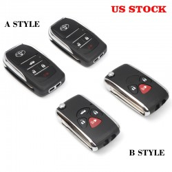 Free Shipping Toyota Modified Flip Folding Remote Blank Key Shell - must have G-Key For 4runner 2010-2020
