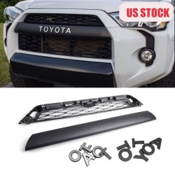 Group Purchase!!!For 2014-2019 Toyota 4Runner TRD PRO 4Piece Front Bumper Grille Replacement & TRD PRO Black Emblems