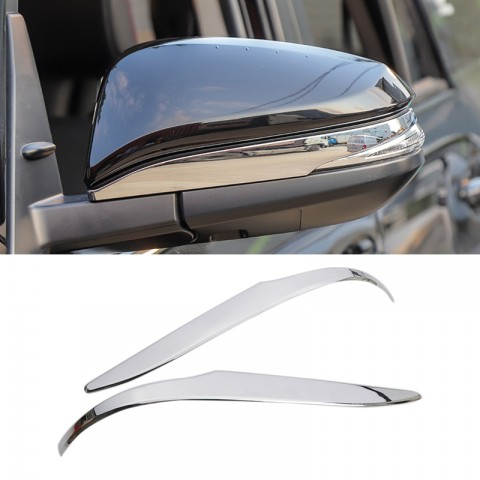 ABS Chrome Lower Rearview Side Mirror Stripe Cover Trim 2pcs For TOYOTA 4Runner 2014-2021