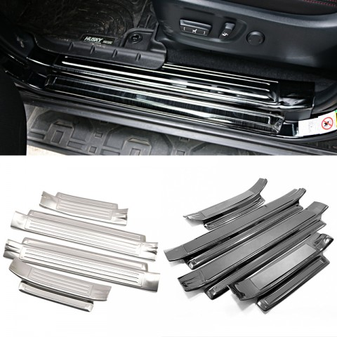 Stainless Door Sill Scuff Plate 4pcs For 2014-2019 Toyota 4Runner