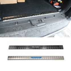 Stainless Inner Rear Sill Bumper Cover Plate 1pcs For 2014-2021 Toyota 4Runner 5 seats
