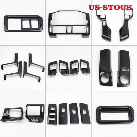 Free shipping Black LHD Interior Cover Trim 21pcs For Toyota 4Runner 2014-2019