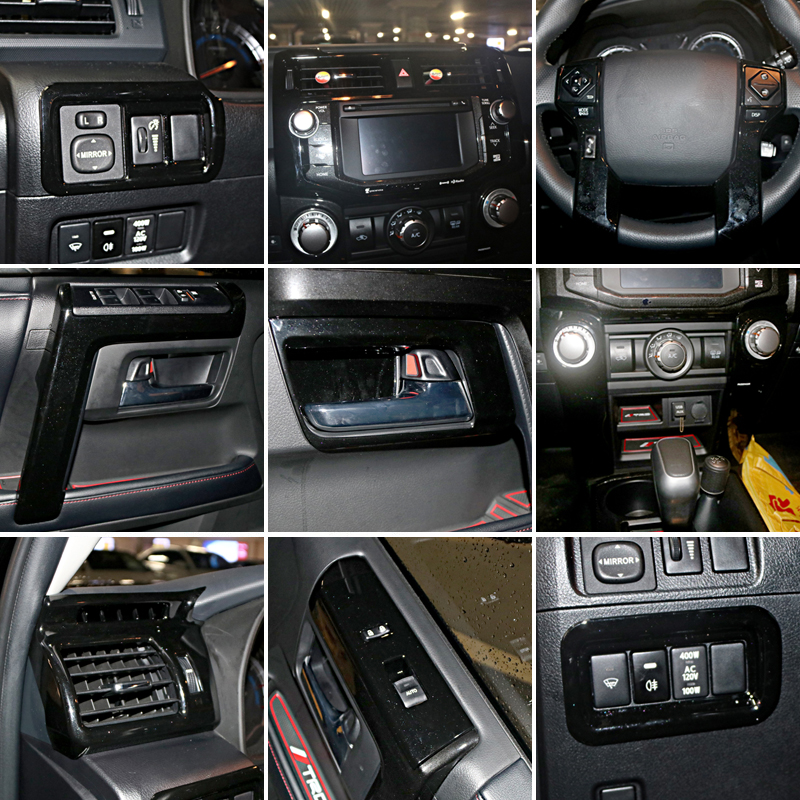 Free shipping black lhd whole set interior cover trim - Toyota 4runner interior trim parts ...