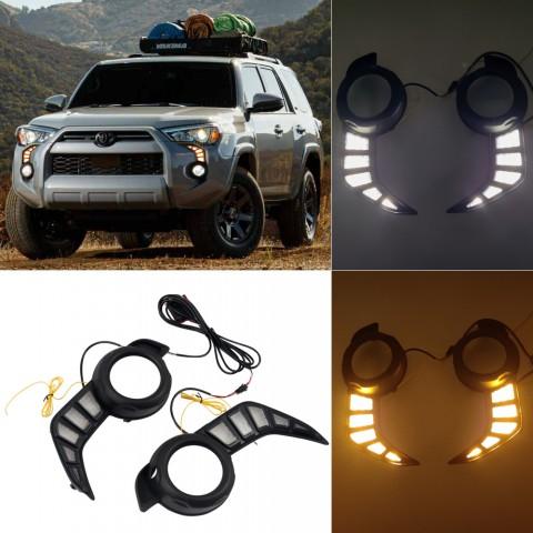 Free Shipping Fog Light Daytime Running Light DRL LED Day Light 2Pcs For Toyota 4runner 2014-2021