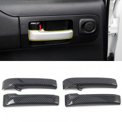 Free Shipping Carbon Style Door Handles Cup Strip Decor Trims 4PCS for Toyota Tundra Crewmax, Double Cab 2014-2021