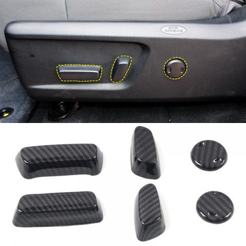 Free Shipping Carbon Style Interior Seat Height Switch Cap Cover Trims for Toyota Tundra Crewmax, Double Cab 2014-2021