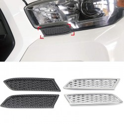 Free Shipping Front Bumper Chrome Headlight Honeycomb Style Cover Trims For Toyota Tacoma 2016-2019