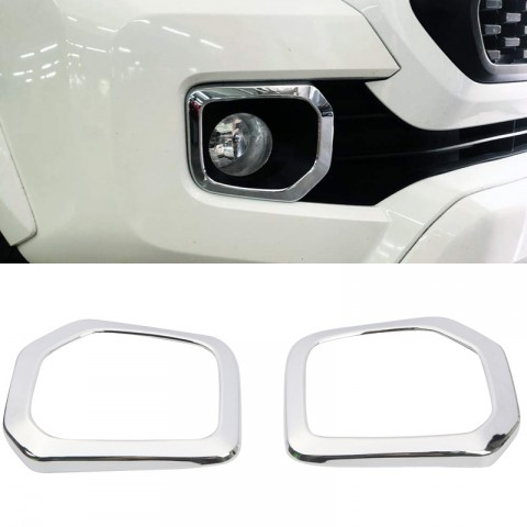 Free Shipping Front Bumper Fog Cover molding Trims For Toyota Tacoma 2016-2019