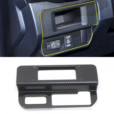 Free Shipping Carbon Style Fog light control button panel Cover molding Trims For Toyota Tacoma 2016-2019