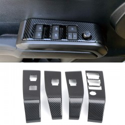 Free Shipping Carbon Style Doors Armrest Window Switch Panel Cover Trims For Toyota Tacoma 2016-2019
