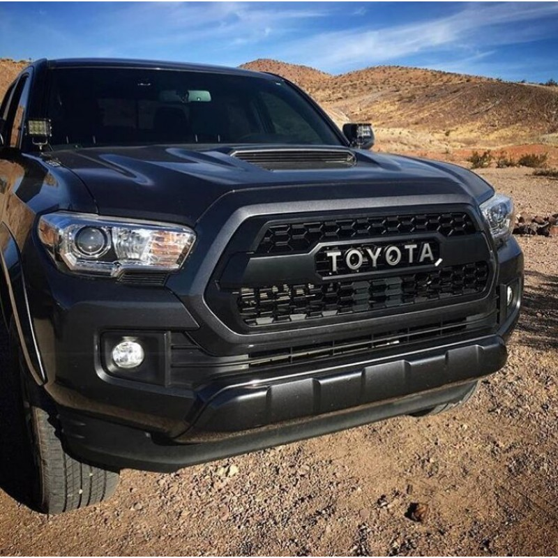 Free Shipping Matte Black Front Bumper Hood Grille Grill