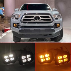 Free Shipping Fog Light Daytime Running Light DRL LED Day Light 2Pcs For Toyota Tacoma 2016-2021